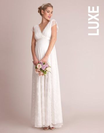 Seraphine Lace Maternity Bridal Gown